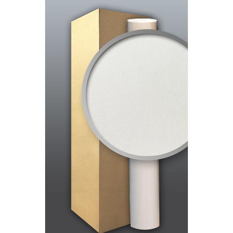 Papier peint blanc intissé à peindre texture EDEM 80375BR60 décorative aspect canevas 1 cart. à 6 roul. 159 m2