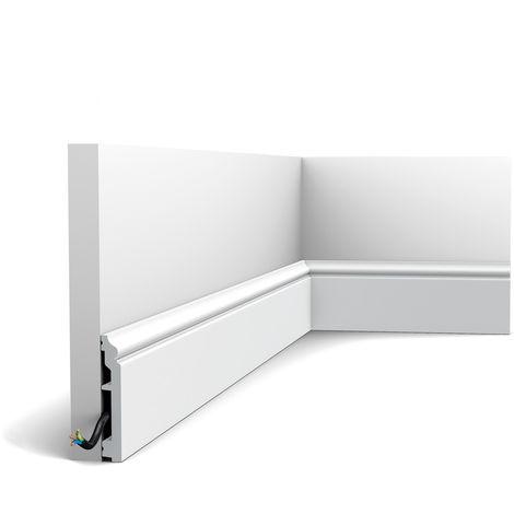 Plinthe Orac Decor SX173-RAL9003 AXXENT CONTOUR Plinthe Moulure décorative prépeinte design intemporel classique blanc de sécurité 2m
