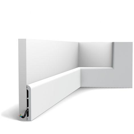 Plinthe Orac Decor SX184-RAL9003 AXXENT CASCADE Plinthe Cimaise Moulure décorative prépeinte design moderne blanc de sécurité 2 m