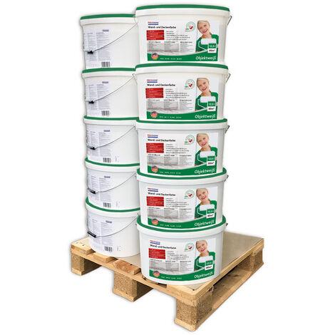 Peinture mur et plafond PROFHOME 300-31-10 peinture universelle pour intérieurs bien couvrante blanche mate 125 L rend. max 800 m2