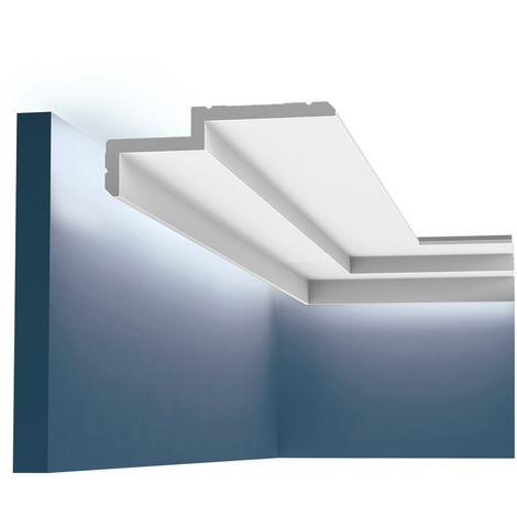Corniche Orac Decor C391 MODERN STEPS Éclairage indirect Moulure décorative design moderne blanc 2m