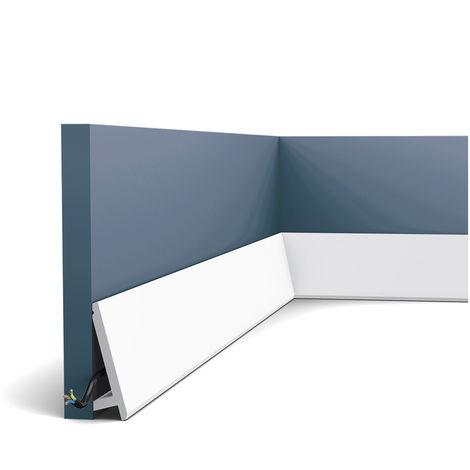 Plinthe Orac Decor SX179F MODERN DIAGONAL Moulure flexible Moulure décorative design moderne blanc 2m