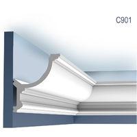 Corniche Moulure Cimaise Orac Decor C901 LUXXUS pour éclairage indirect Décoration de stuc Profil 2 m