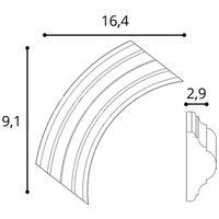 Elément du coin Décoration de stuc Orac Decor P4020A LUXXUS Corniche pour moulure cimaise pour le mur Encadrement