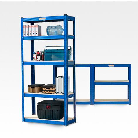 Etagère de rangement métallique 150x70x30 cm 5 étagères 950 kg Element