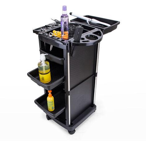 Chariot portable pour coiffeurs et esthéticiennes avec roues et grands compartiments Twists