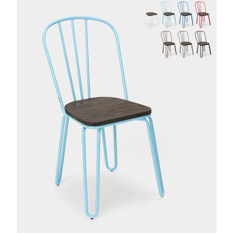 Chaises industrielles en acier Tolix pour bar et cuisine design Ferrum | Turquoise