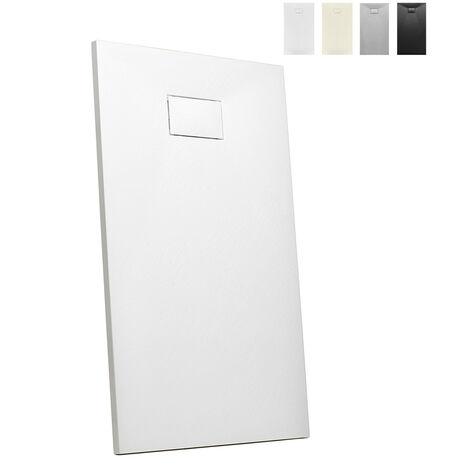 Receveur de douche à l'italienne rectangulaire 140x90 design moderne Stone   Couleur: Blanc