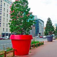 Grand pot de fleurs Big Gio Slide 130cm | Couleur: Gris foncé