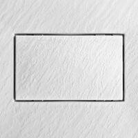 Receveur de douche en résine carré 80x80 pour salle de bain moderne Stone   Couleur: Blanc