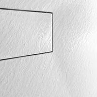 Receveur de douche à l'italienne rectangulaire en résine 110x70 salle de bain moderne Stone | Couleur: Blanc