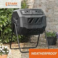 Composteur rotatif pour jardin extérieur 160 litres deux compartiments Abacus