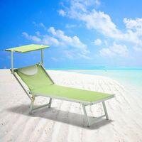 20 Bain de soleil professionels lits de plage transats aluminum Italia | Vert foncé