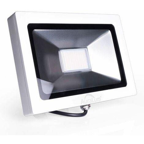 Auralum 30W Projecteur LED Ultraléger IP65 Éclairage Extérieur et Intérieur 2250LM de Haute Luminosité Spot LED Blanc Neutre 4000-4500K