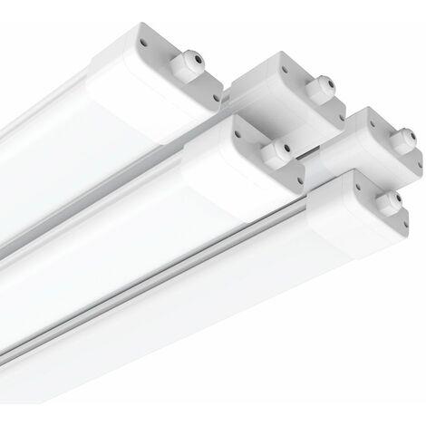 5×Anten Neon Tube Garage 150CM 45W Tube Neon LED Étanche IP65 Reglette LED 150CM Anti-Poussière Anti-Corrosion et Anti-Choc Neon LED 150CM Lampe Néon Blanc Froid 6000K