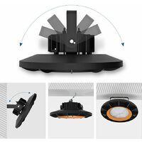 Anten 150W UFO Projecteur LED Dimmable Projecteur LED d'éclairage Industriel Suspension IP65 Phare de Travail Spot Lumière Éxtérieur et Indérieur Blanc Froid 6000K (Variateur non compris)