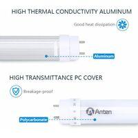 2×Anten 90CM Tube Néon LED 15W T8 G13 Tube Fluorescent 1500 Lumen Eclairage Plafonnier LED Blanc Froid 6000K Starters Fournis