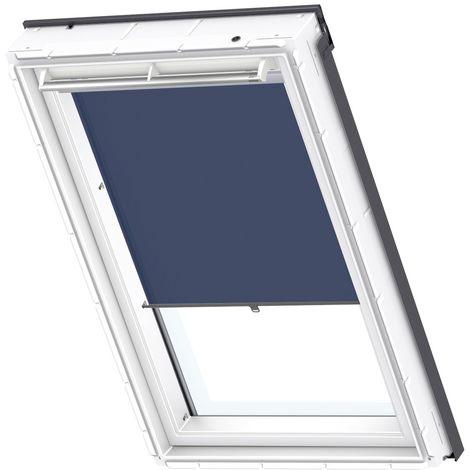 Store rideau tamisant VELUX original avec crochets pour fenêtres de toit VELUX, MK08, M08, MK06, M06, MK04, M04, 308, 2, 306, 304, 1 - Bleu Foncé