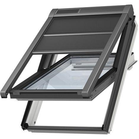Volet roulant souple extérieur à énergie solaire VELUX original pour fenêtres de toit VELUX U04, UK04 - Noir
