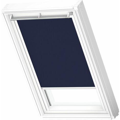 VELUX store occultant (DKL) original, cadre blanc, pour fenêtre de toit VELUX S06, 606, 4 - Bleu Foncé
