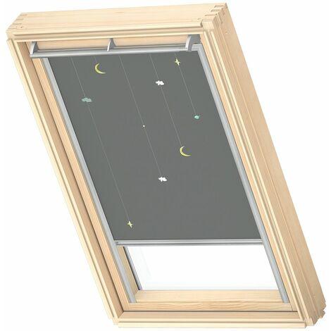 VELUX store occultant (DKL) original, collection enfants, cadre argenté, pour fenêtre de toit VELUX S06, 606, 4 - Mobile