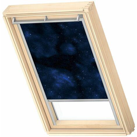 VELUX store occultant (DKL) original, collection enfants, cadre argenté, pour fenêtre de toit VELUX M04, 304, 1 - Univers