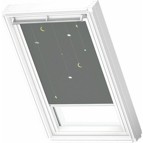 VELUX store occultant (DKL) original, cadre blanc, collection enfants, pour fenêtre de toit VELUX S06, 606, 4 - Mobile