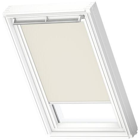 VELUX store occultant (DKL) original, cadre blanc, pour fenêtre de toit VELUX SK06 - Beige Clair