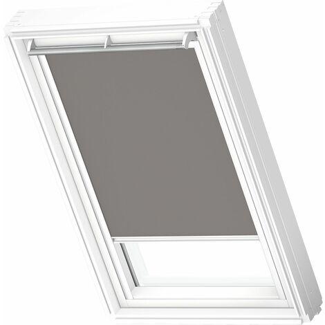 VELUX store occultant (DKL) original, cadre blanc, pour fenêtre de toit VELUX UK04 - Gris