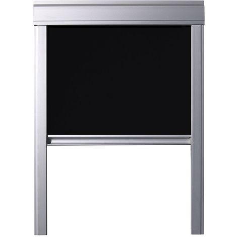 Store occultant Itzala compatible avec les fenêtres de toit VELUX, M04, MK04, 304, 1 - Noir