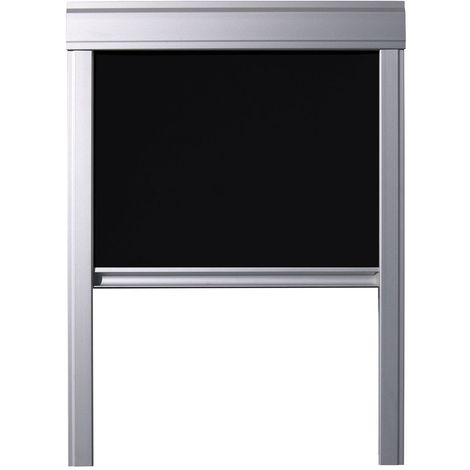 Store occultant Itzala compatible avec les fenêtres de toit VELUX, S06, SK06, 606, 4 - Noir