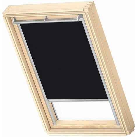 VELUX store occultant (DKL) original, cadre argenté, pour fenêtre de toit VELUX S06, 606, 4 - Noir