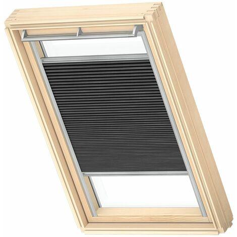 VELUX store plissé occultant et isolant (FHC) original, cadre argenté, S06, 606, 4, - Noir Charbon