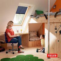 Store rideau tamisant VELUX original avec crochets pour fenêtres de toit VELUX, CK04, C04, 6, CK02, C02, CK01, C01, 9 - Blanc