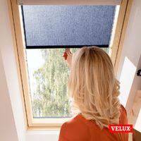 Store rideau tamisant VELUX original avec crochets pour fenêtres de toit VELUX, CK04, C04, 6, CK02, C02, CK01, C01, 9 - Bleu Foncé