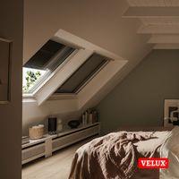 Volet roulant souple extérieur à énergie solaire VELUX original pour fenêtres de toit VELUX C04, CK04 - Noir