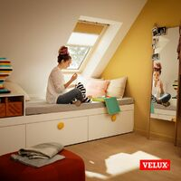 VELUX Original Store Duo Occultant et Tamisant (DFD), Cadre Argenté, C04 - Bleu Foncé
