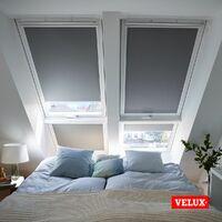 VELUX store occultant (DKL) original, cadre blanc, pour fenêtre de toit VELUX C02 - Bleu Foncé