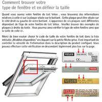 Store occultant Itzala compatible avec les fenêtres de toit VELUX, C02, CK02 - Noir