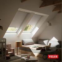 VELUX store occultant (DKL) original, cadre argenté, pour fenêtre de toit VELUX C02 - Cliquez sur la flèche pour choisir la taille - Bleu Foncé