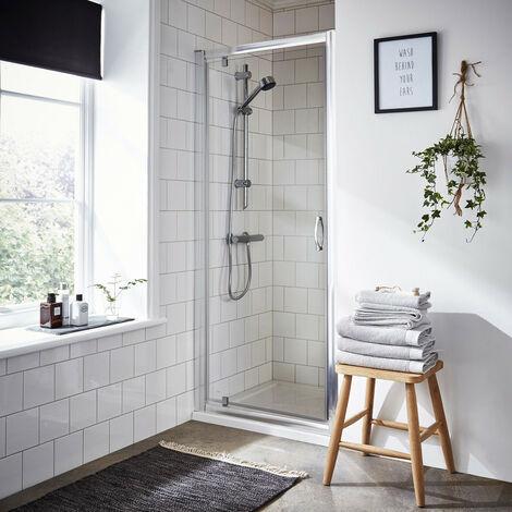 Nuie Ella 700mm Pivot Shower Door - ERPD70