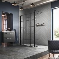 Hudson Reed 1000mm Framed Wetroom Screen with Support Bar - WRSF10