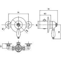 Nuie Edwardian Concealed Manual Shower Valve - A3201