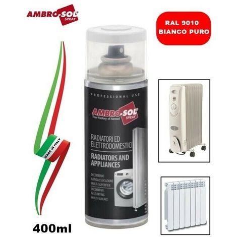 VERNICE SMALTO SPRAY 120°C PER RADIATORI E TERMOSIFONI RAL9010 BIANCO PURO 400ml