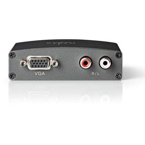 Nedis Convertidor HDMI™ a VGA | 1 toma - Entrada HDMI™ | VGA + 2 Salidas RCA (I/D) NE550670209