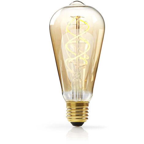 Nedis Bombilla de Filamento LED Atenuable E27 de Estilo Vintage | ST64 | 5 W | 260 lm NE550672165