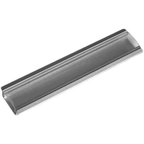 Perfil Aluminio Tira LED Empotrar Transparente 1m