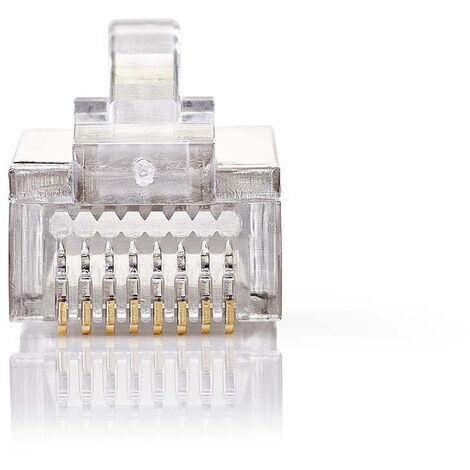 Nedis Conector de Red | RJ45 Macho - Para Cables CAT5 U/FTP Trenzados | 10 unidades | Metal NE550677246