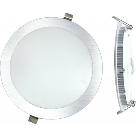 DownLight LED Empotrar Redondo 18W Luz Blanca 6000K Acabado PLATA