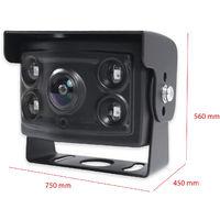 """Sistema de visión trasera y marcha atrás Yatek para todo tipo de vehículos, pantalla de 10,1"""" LCD, incluye cámara de grado angular 170º con visión nocturna"""